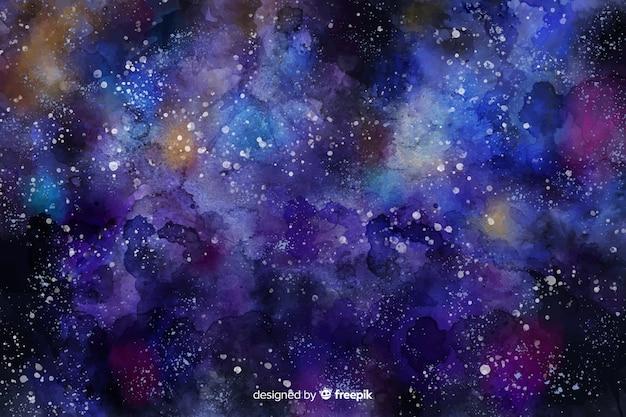 Aquarell sternenklare nacht hintergrund