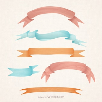 Aquarell-stil bänder