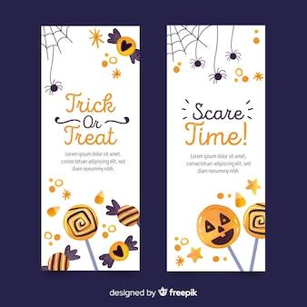 Aquarell-stil halloween banner vorlage