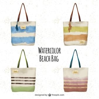 Aquarell strandtasche set