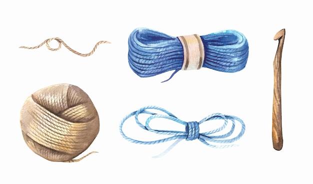 Aquarell-strickkollektion.