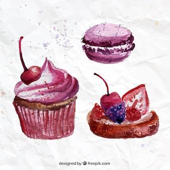 Aquarell süßigkeiten