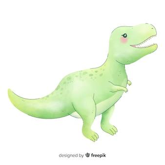 Aquarell t-rex hintergrund