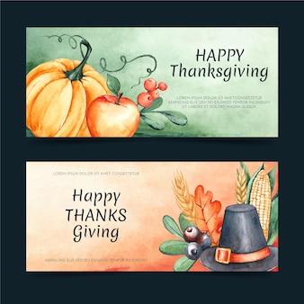 Aquarell thanksgiving banner gesetzt