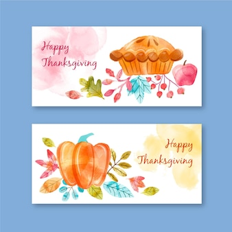 Aquarell thanksgiving banner vorlage