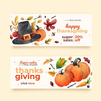 Aquarell thanksgiving banner