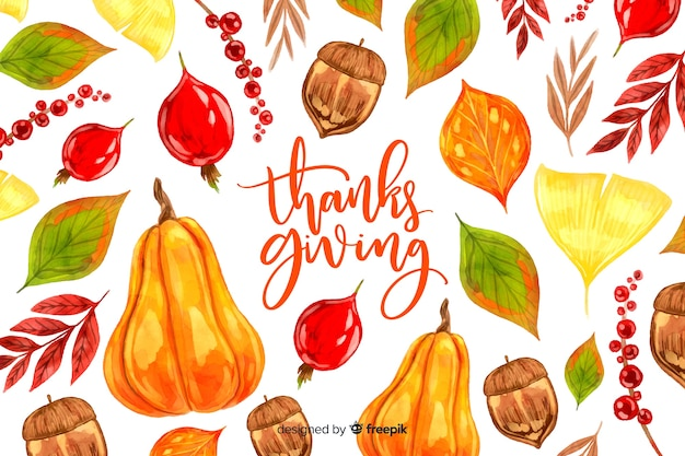 Aquarell thanksgiving hintergrund