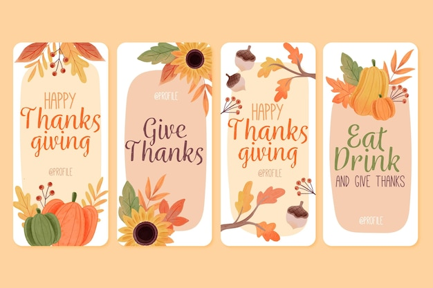 Aquarell thanksgiving instagram geschichten