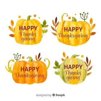 Aquarell thanksgiving-label-auflistung