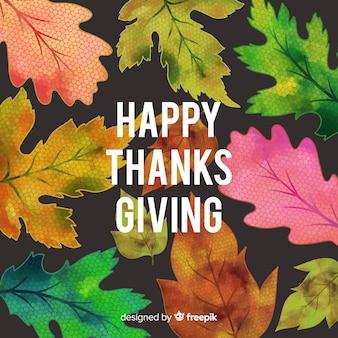 Aquarell thanksgiving tag hintergrund