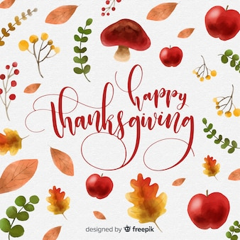 Aquarell thanksgiving tag hintergrund