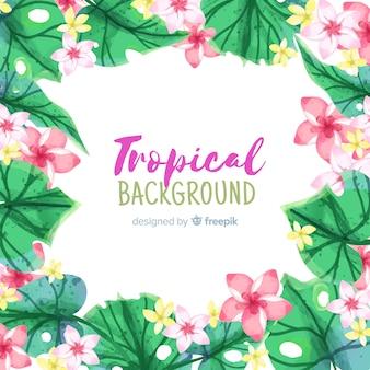 Aquarell tropischen hintergrund