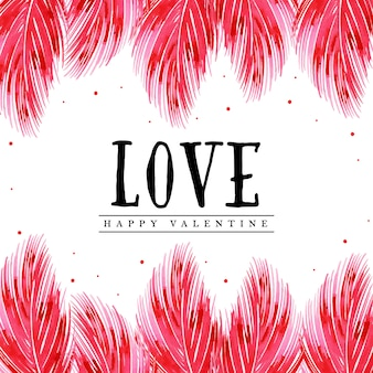 Aquarell valentine feather background