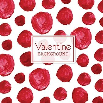 Aquarell valentine polka dot hintergrund