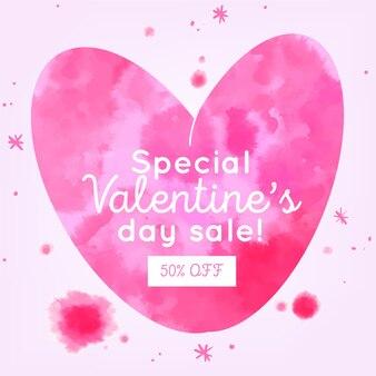 Aquarell valentine sonderverkäufe