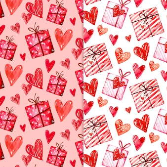 Aquarell valentinstag mustersammlung