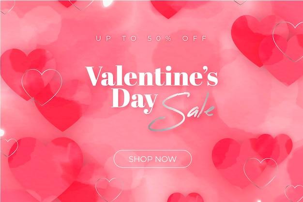 Aquarell valentinstag sale promo