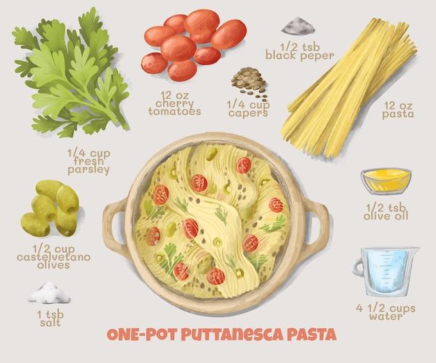 Aquarell vegetarisches rezept