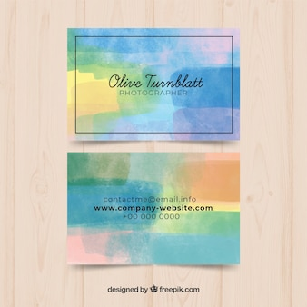 Aquarell visitenkarte vorlage