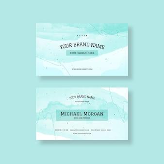 Aquarell visitenkarte