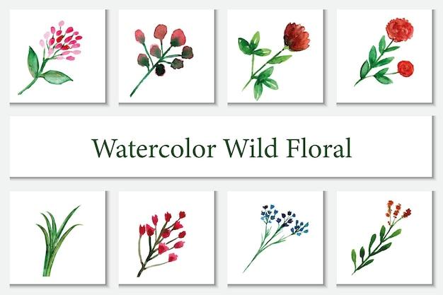 Aquarell wandbehang mit wildblumenmotiven