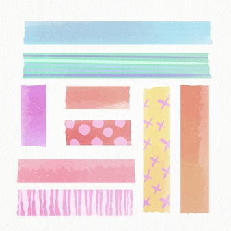 Aquarell washi tape sammlung