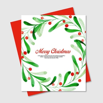 Aquarell weihnachten blumenkarten