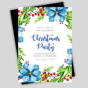 Aquarell weihnachten broschüren vorlage