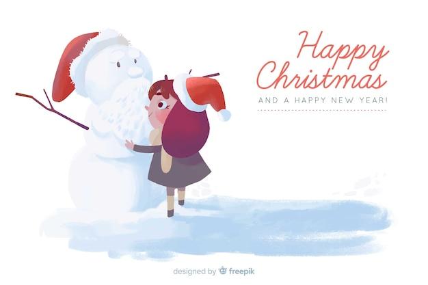 Aquarell weihnachten hintergrund