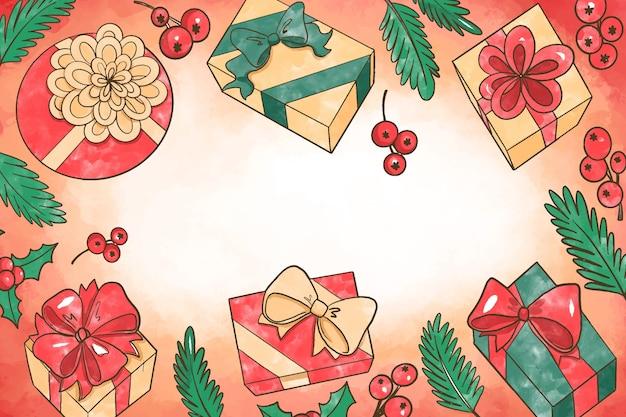 Aquarell weihnachten hintergrundkonzept
