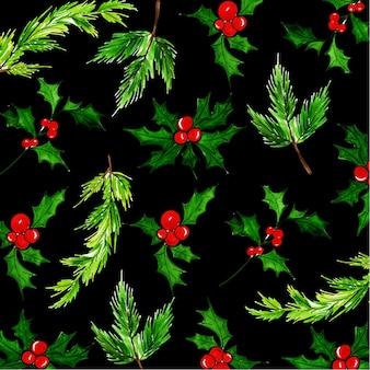 Aquarell weihnachten muster hintergrund