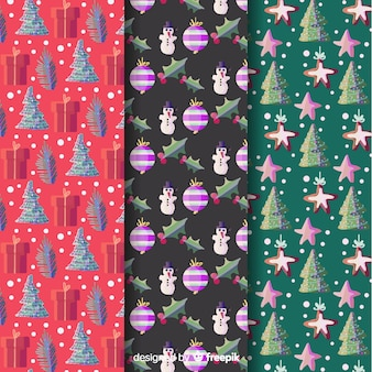 Aquarell weihnachten mustersammlung