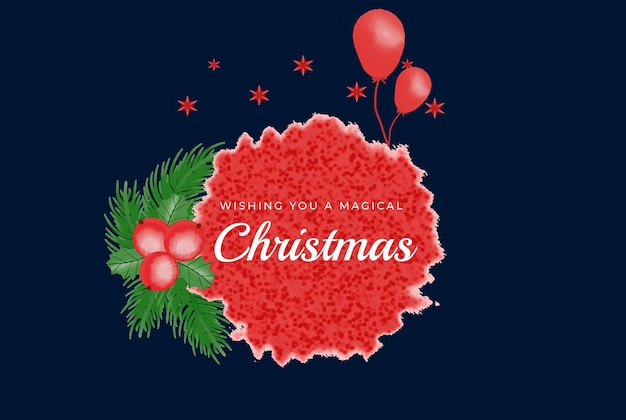 Aquarell weihnachten und neujahr kranz blumenrahmen und hintergrund vektor premium