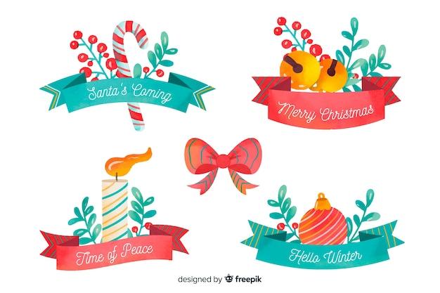 Aquarell weihnachtsband sammlung