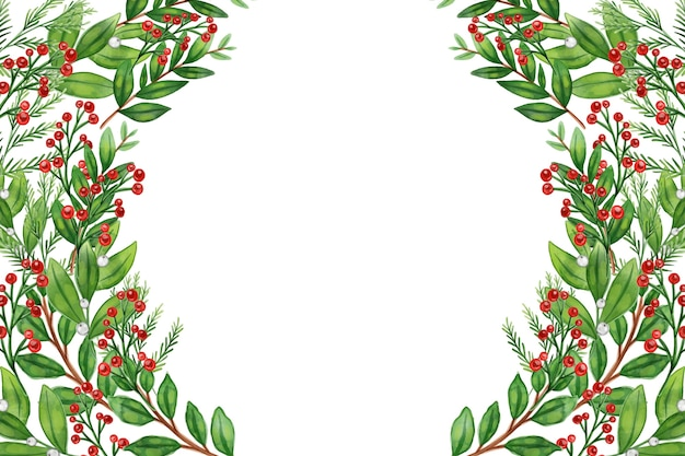 Aquarell weihnachtsbaum äste hintergrund