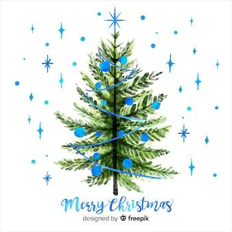 Aquarell weihnachtsbaum