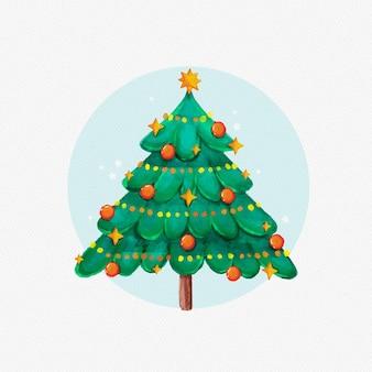 Aquarell-weihnachtsbaum