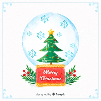 Aquarell weihnachtsbaumkugel