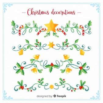 Aquarell weihnachtsdekoration blumenstrauß