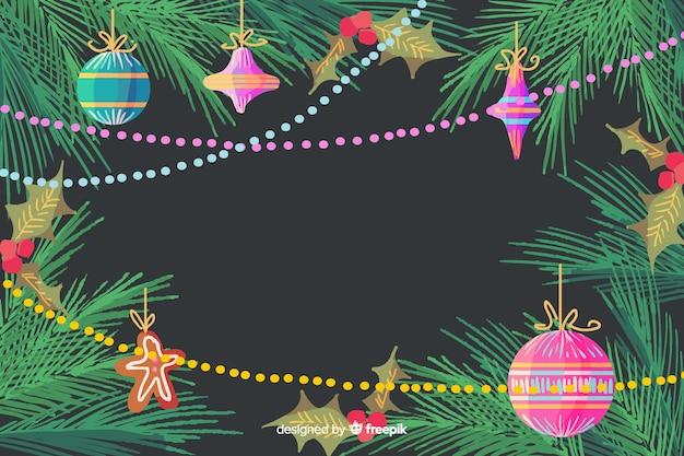 Aquarell weihnachtsdekoration