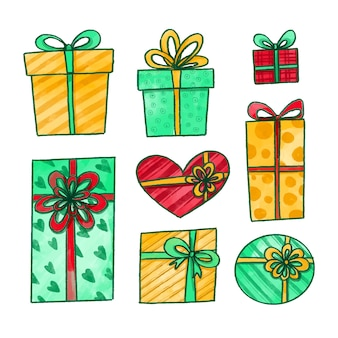Aquarell weihnachtsgeschenk sammlung