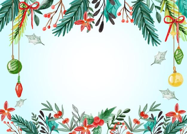 Aquarell weihnachtshintergrund