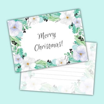 Aquarell weihnachtskarte