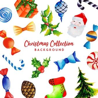Aquarell weihnachtskollektion