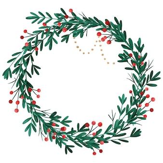 Aquarell weihnachtskranz