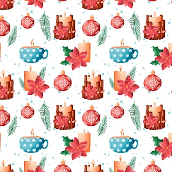 Aquarell weihnachtsmuster design