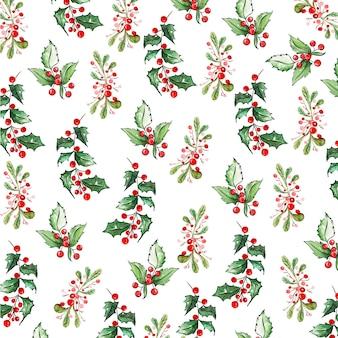 Aquarell weihnachtsmuster hintergründe