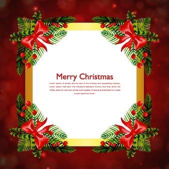Aquarell-weihnachtsrahmen-sammlung