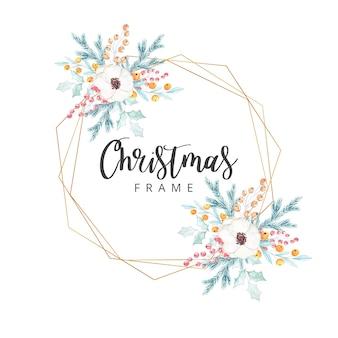 Aquarell weihnachtsrahmen