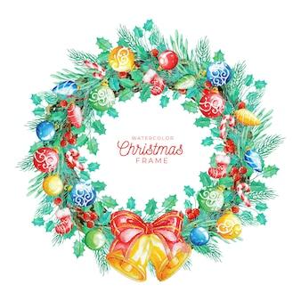 Aquarell-weihnachtsrahmen